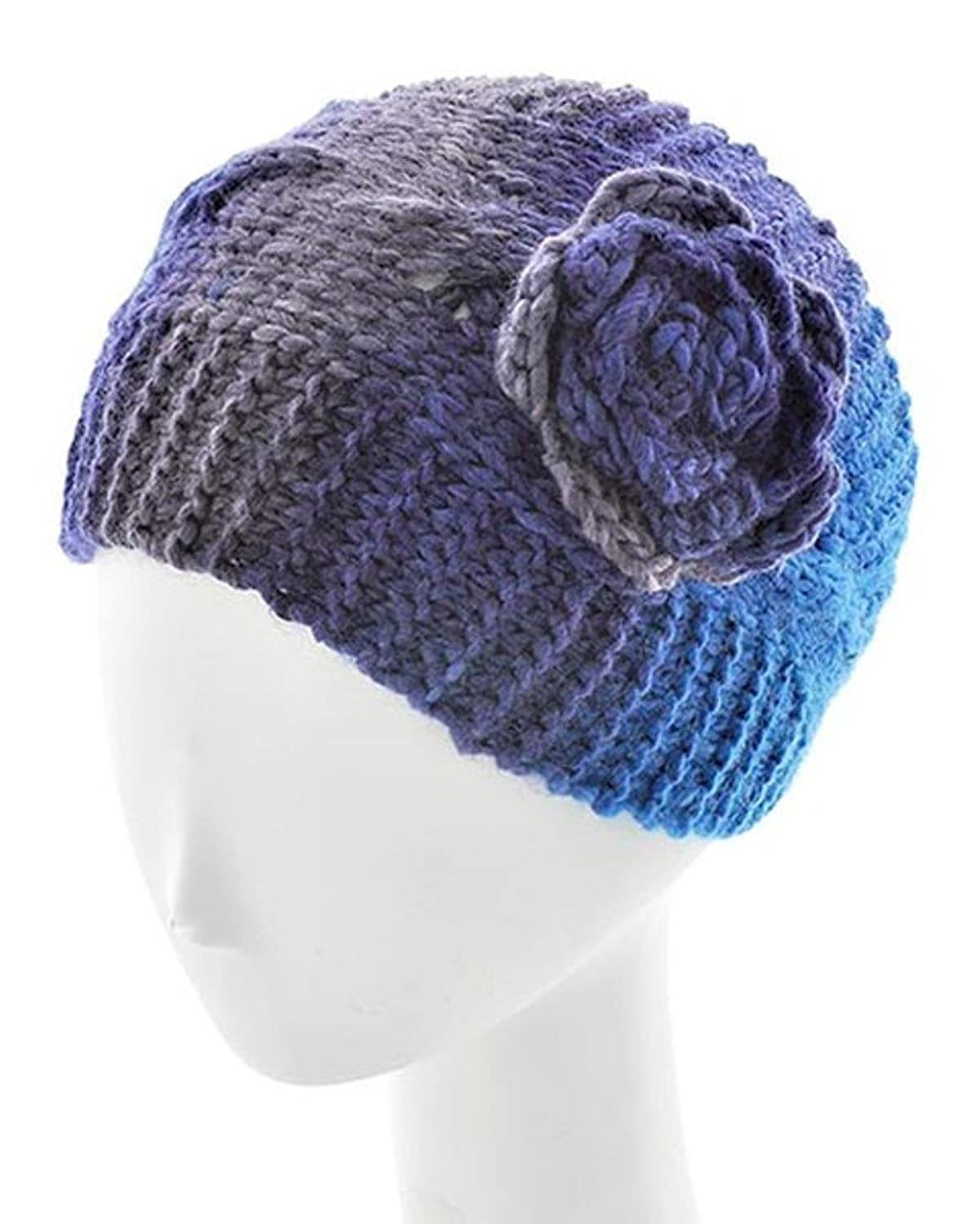 Shades of Blue Flower Cap