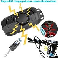 Dxlta Vélo Alarme Verrouille haute sécurité sans fil, professionnel Antivol vélo Serrure avec télécommande Vibration Alarme 110dB