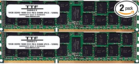 Renewed PC3-8500R Memory Kit for Dell PowerEdge R510 128 GB 8 x 16GB