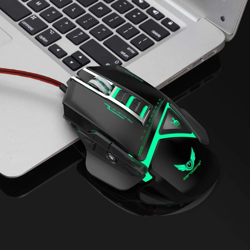 Suitable for PC//Laptop//Tablet Wired Computer Mouse Black Mouse L128mm /× W70cm /× H41mm USB Port Feels Comfortable Mute and Smooth