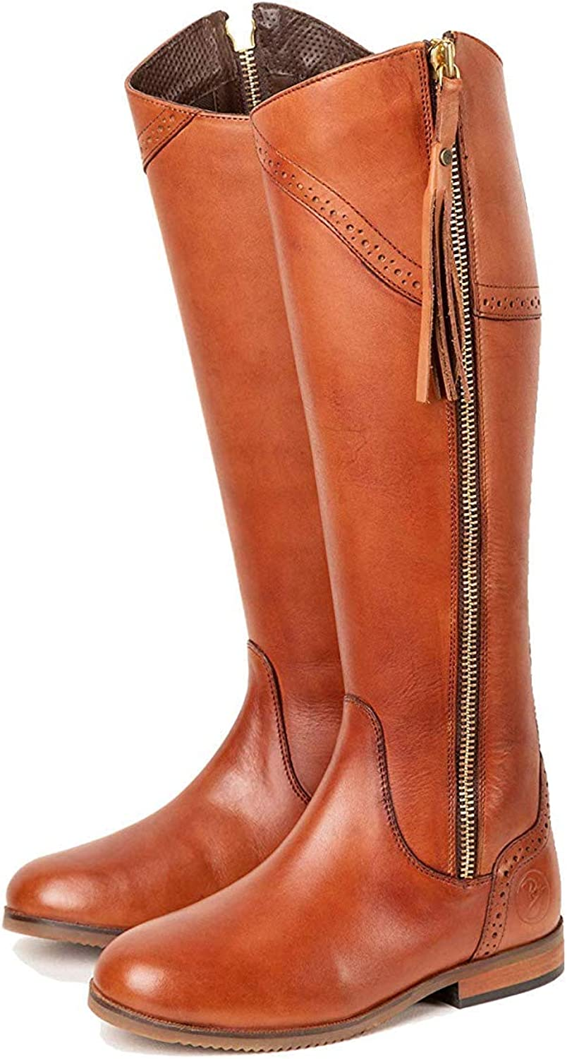 Womens Tan Leather Riding Boots UK | Rydale