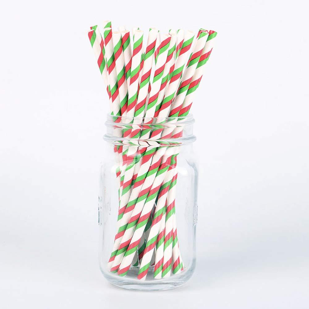 Genmine Paper Drinking Straws Biodegradable 7.75\