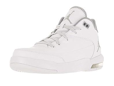 c2022534ffd2 Jordan Nike Men s Flight Origin 3 White Metallic Silver White Basketball ...