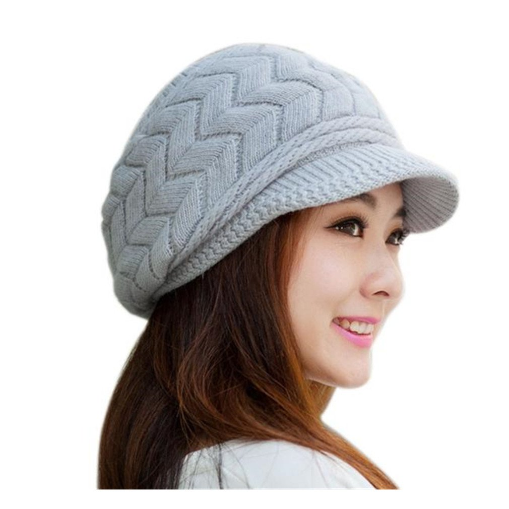 83a820613 Koly Women's Hat Winter Skullies Beanies Knitted Warm Soft Cap product image