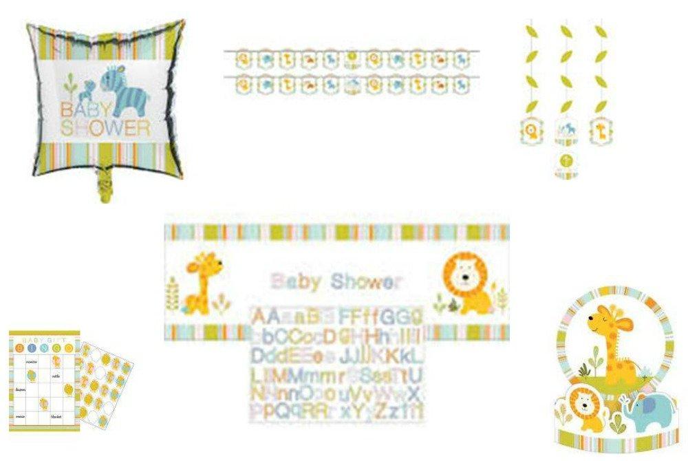Happi Jungle Baby Shower Party Decorations, Favors, and Centerpiece 6-Piece Bundle