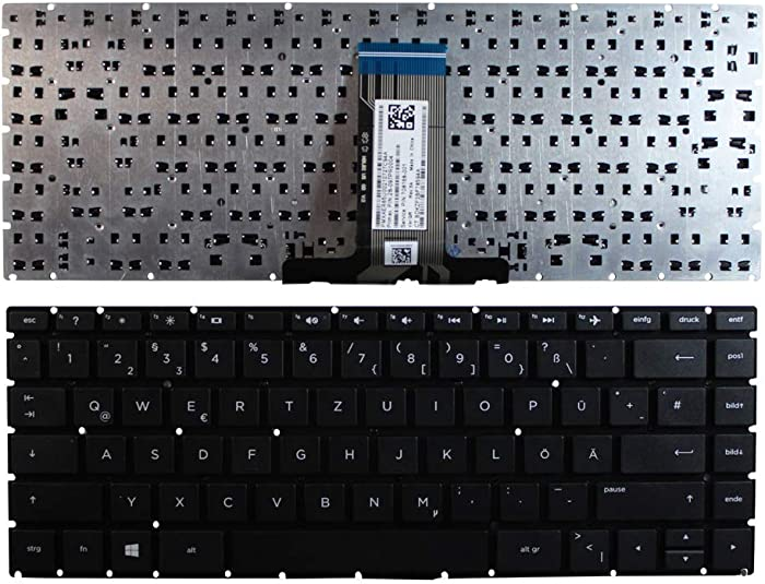 Keyboards4Laptops German Layout Black Windows 8 Laptop Keyboard Compatible with HP Home 14-bs024ur, HP Home 14-bs025la, HP Home 14-bs025no, HP Home 14-bs025TU, HP Home 14-bs025TX