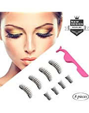 d8cfcd8f26e Magnetic Eyelashes HIDARLING Reusable 3D Magnetic False Eyelashes with  Tweezers Set (8 pieces)