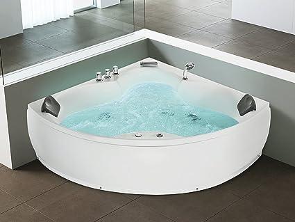Vasca Da Bagno Jacuzzi.Beliani Whirlpool Indoor Jacuzzi Sprudelbad Spa