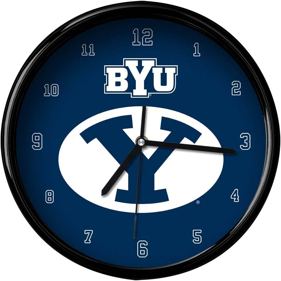 Multicolor One Size The Memory Company NCAA Brigham Young University Official Black Rim Basic Clock