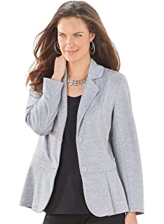 88b6aa1f90b Women s Plus Size Jodie Basic Ponte Blazer at Amazon Women s ...