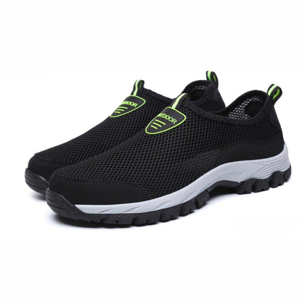 YaXuan Zapatillas de Deporte de Verano, Zapatos de Malla para Hombres, Zapatos de Malla Transpirable de Deporte para Hombres, (Color : Negro, Tamaño : 44) 44 Negro