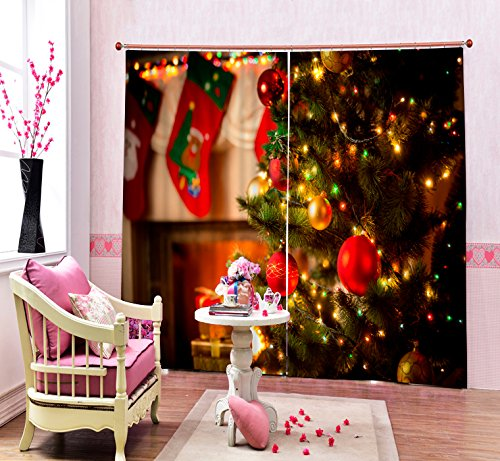 Sproud Modern Fashion Christmas Party 3D Blackout Window Curtains For Bedding Room Living Room Hotel Drapes Cortinas Para Sala 240Dropx380Wide(Cm) 2 pieces