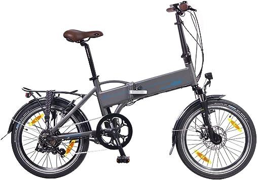 NCM Madrid 50,8 cm para Bicicleta Eléctrica E-Bicicleta Plegable E-Bike ALU 36 V 250 W Batería Li-Ion Batería de Marco 9Ah!: Amazon.es: Deportes y aire libre