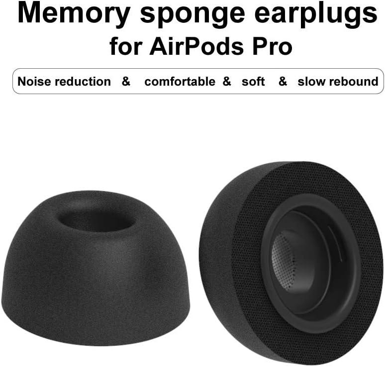 Almohadillas de Repuesto para los o/ídos compatibles con Airpods Pro 2019 Almohadillas de Espuma de Memoria Almohadillas para los o/ídos compatibles con Airpods Pro