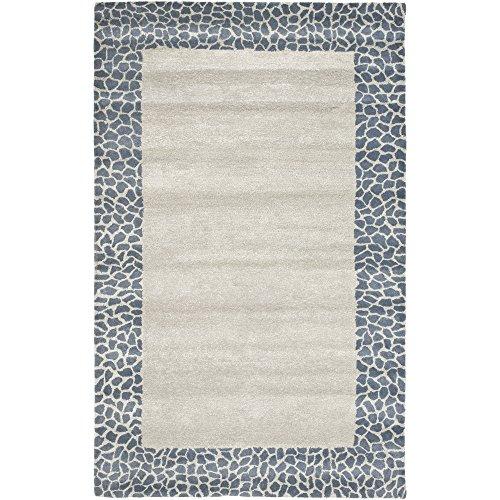 (Safavieh Soho Collection SOH739B Handmade Silver and Grey Premium Wool Area Rug (3'6