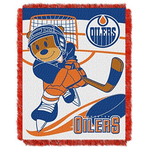 Oilers Baby 36x46 Triple Woven Jacquard Throw - Score Series