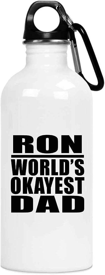 Designsify Ron Worlds Okayest Dad - Water Bottle Botella de ...