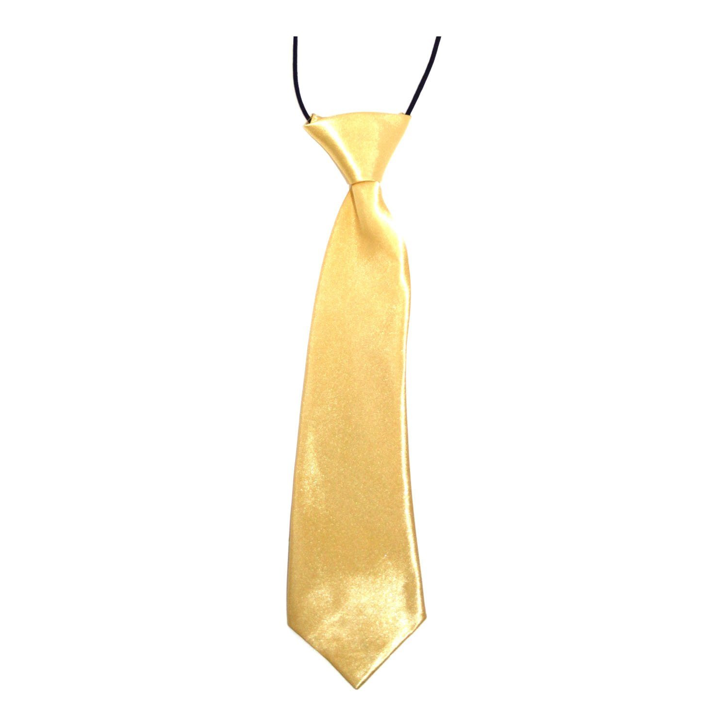Kids Elastic Satin Neck Tie – (School / Prom / Wedding) Available in a Variety of Colours