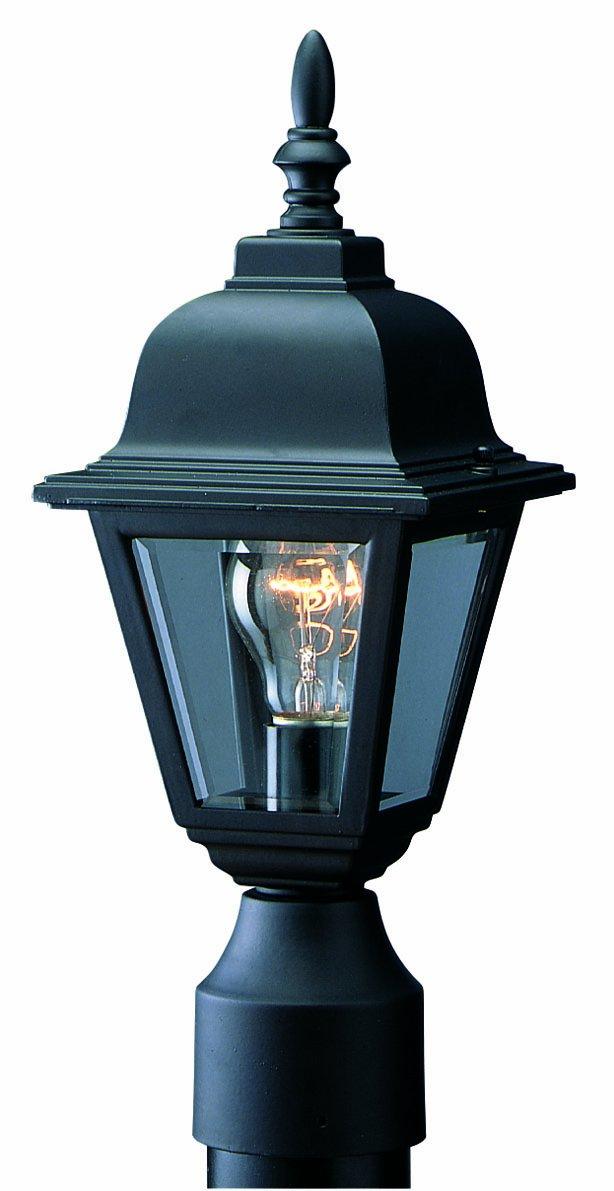 Design House 507509 Maple Street Indoor/Outdoor Post Light, Black