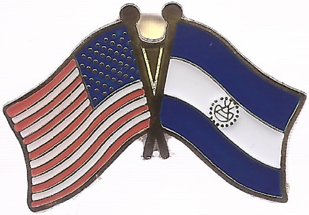 International Friendship Enamel Tie and Hat Badges Pack of 3 Brazil and USA Crossed Double Flag Lapel Pins