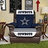 NFL Dallas Cowboys Recliner Reversible Furniture Protector with Elastic Straps, 80-inches by 65-inches
