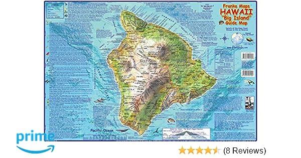 Hawaii The Big Island Adventure Map Franko Maps Laminated ... on molokai hawaii coastline, waikiki hawaii coastline, kauai coastline,