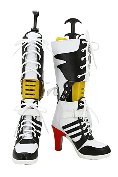 best service 12cfb fc138 Harley Quinn Shoes Suicide Squad High Heels Halloween Party ...