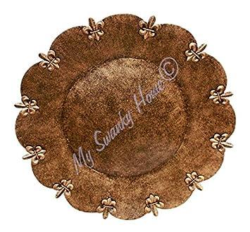Iron Fleur de Lis Charger Plate Set | Copper Bronze Metal  sc 1 st  Amazon.com & Amazon.com | Iron Fleur de Lis Charger Plate Set | Copper Bronze ...