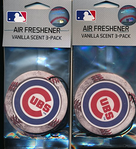 chicago-cubs-mlb-baseball-logo-air-fresheners-2-packs-of-3-for-6-total-great-holiday-gifts