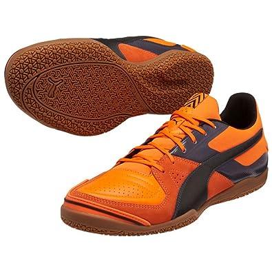 756ea7d801e1 Amazon.com | Puma Mens Invicto Sala Indoor Soccer Shoes 10 1/2 US,  Orange/Black/Periscope | Running