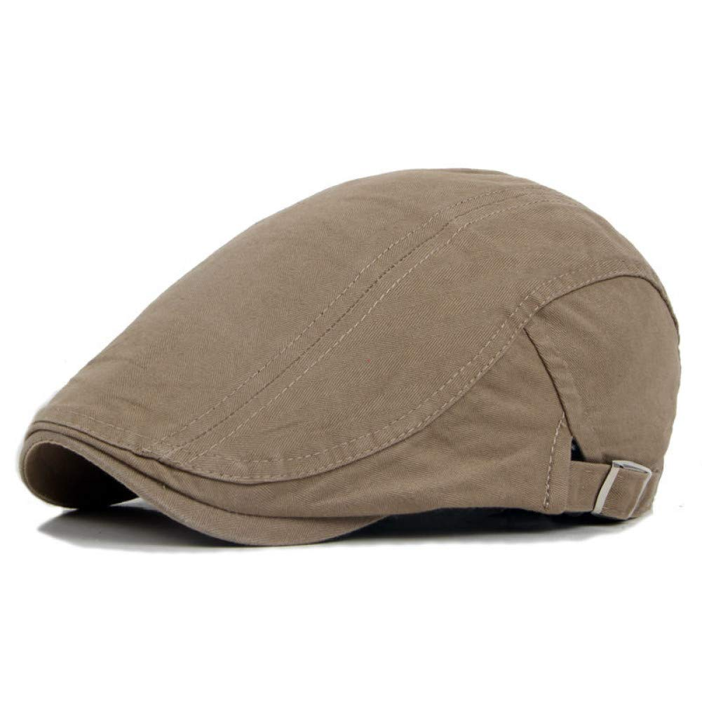 Adjustable Beret Cap Spring Summer Outdoor Sun Breathable Bone Brim Womens Mens Herringbone Solid Flat Cap