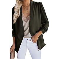 Inlefen Women's Business Slim Pocket Work Office Blazer Jacket Suit