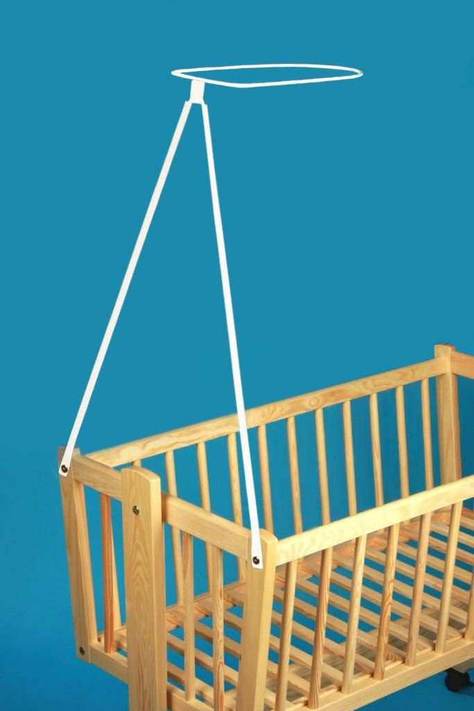 Crib Canopy Mosquito Net + Holder for Baby Rocking/Swinging/Cradle/Moses Basket - BLUE Babycomfort