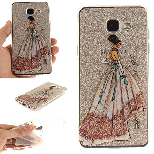 Qiaogle Teléfono Caso - Funda de TPU silicona Carcasa Case Cover para Samsung Galaxy Core 2 SM-G355H (4.5 Pulgadas) - TX74 / Dress design draft TX74 / Dress design draft