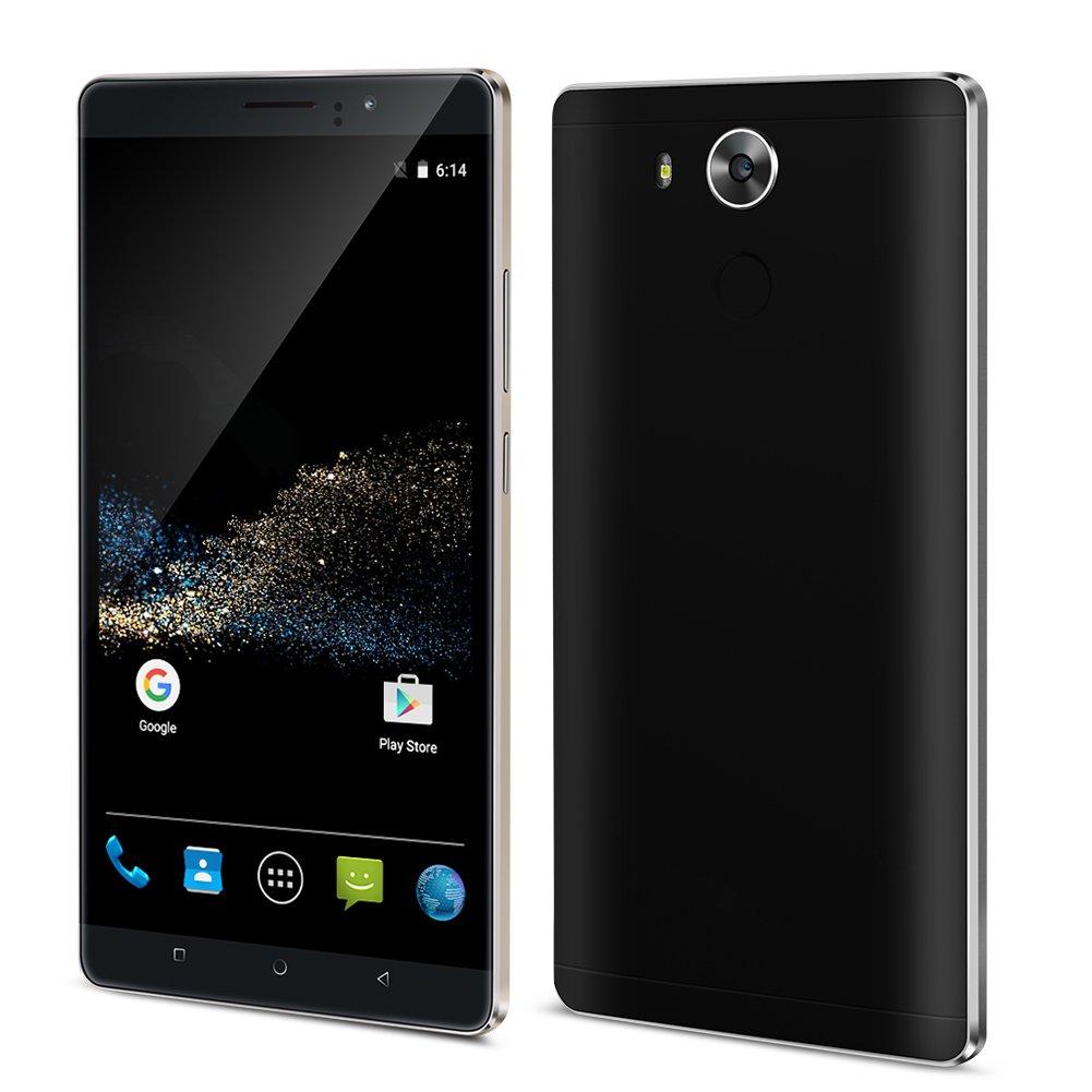 Padcod Unlocked 3G Smartphone,6 inch IPS Screen Android 5.1 Cellphone,MTK6580 4 Core 1.3GHz, 8GB ROM,Dual Sim,Dual Camera,WIFI GPS G-Sensor SIM-Free 2G/3G 4800mAh Battery (BK)