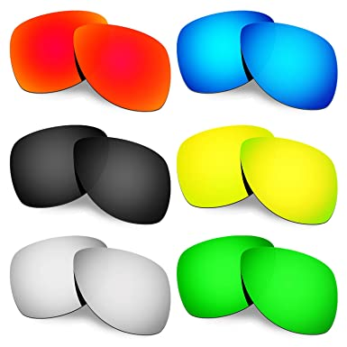 4e03f9c0db Hkuco Mens Replacement Lenses For Oakley Dispatch 2 Red Blue Black 24K Gold
