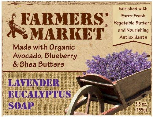 Farmers' Market Natural Bar Soap, Lavender and Eucalyptus, 5.5 Ounce (Pack of (Eucalyptus Organic Bar Soap)