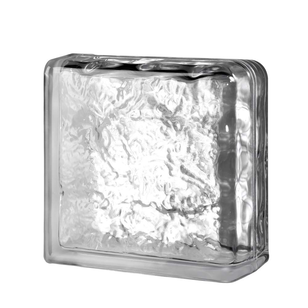 Quality Glass Block 8 x 8 x 4 Cortina Double End Block Glass Block by Quality Glass Block