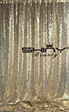 ShinyBeauty Sequin Backdrop 8FTx8FT Light Gold, Studio Background Photography Prop-96'' x 96''