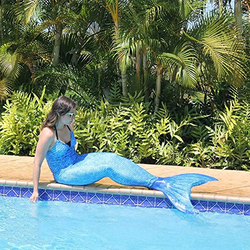 Fin Fun Mermaid Tail Only, Reinforced Tips, NO Monofin, Asian Magenta, Size Child 10 by Fin Fun (Image #5)