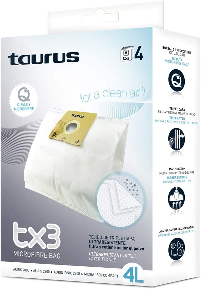 Taurus TX3 4L Pack de 4 bolsas de recambio para