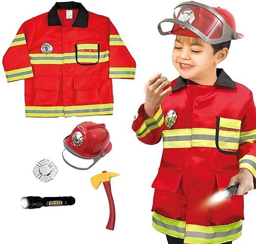 Sue-Supply Disfraz De Jefe De Bomberos para Niños, Conjunto De ...