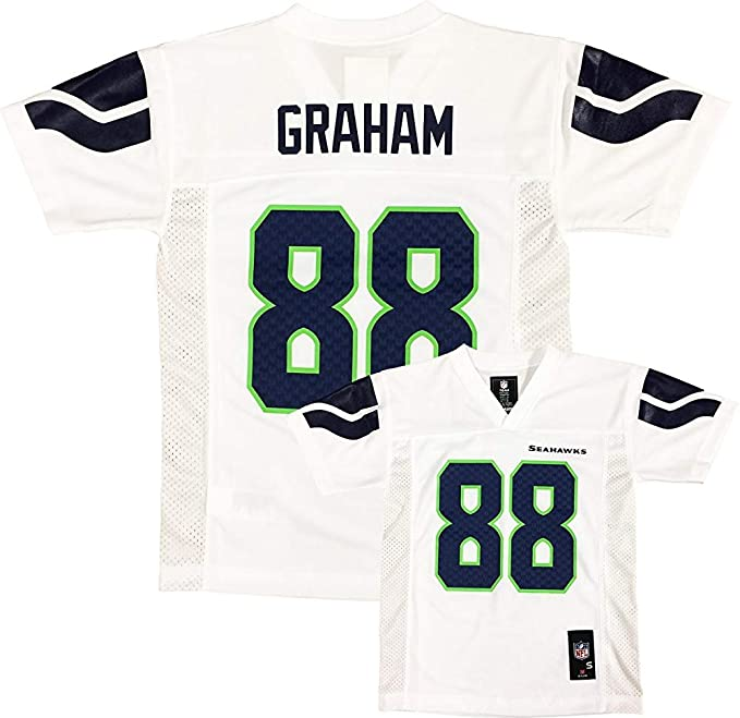 Image Unavailable. Image not available for. Color  Outerstuff Jimmy Graham  Seattle Seahawks White ... 1564d5264