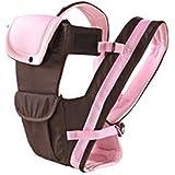 多機能 抱っこひも おんぶ紐 新生児 乳幼児 4通り ヨコ抱っこ ベビーキャリア 柔らかな素材で赤ちゃんにやさしい スリング 0ヶ月から使える  ベビースリング 三色 (ピンク)
