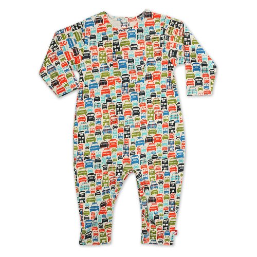 (Zutano Newborn Baby-Boys Piccadilly Cars Coverall, Cream, 12)