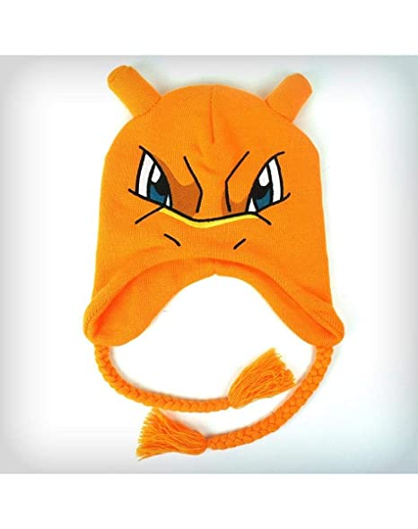 4c0a490a57a Image Unavailable. Image not available for. Color  Pokemon Charizard Big  Face Laplander Beanie Hat