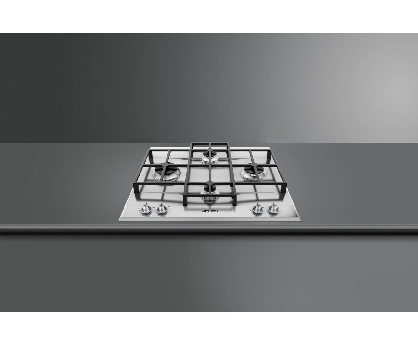 Smeg Linea P1640X Gas Hob Stainless Steel, 60 cm