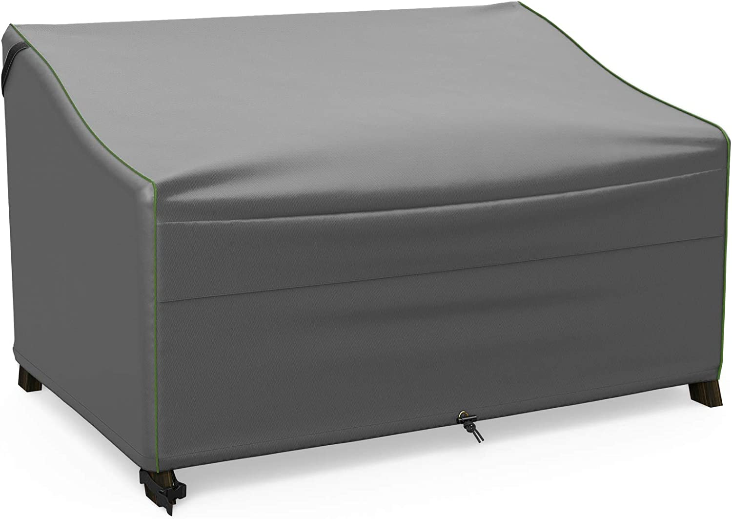 NUPICK Patio Sofa Cover, 58 Inch Outdoor Furniture Loveseat Cover, 100% Waterproof, Rip-Stop and Weather Resistant, Grey