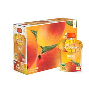 Happy Baby Organic Clearly Crafted Stage 1 Baby Food Mangos 3.5 Ounce (Pack of 8)