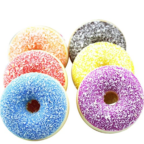 - Lefthigh 1PC Squeeze Toy,Squishy Squeeze Stress Reliever Soft Colourful Doughnut Scented Slow Rising Toys (Random)